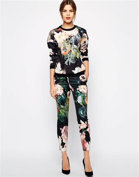 Ted Baker Opulent Bloom ted baker sweatshirt in opulent bloom print lyst