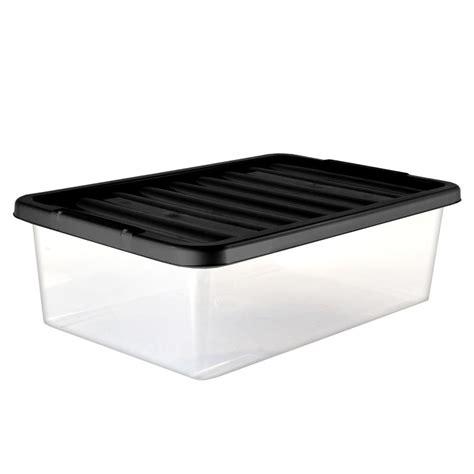 Underbed Box Storage 1 medium underbed storage box with lid 32l