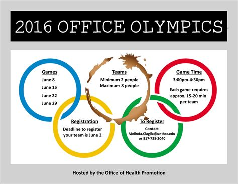 Olympic Office by Fort 2016 Calendar Template 2016