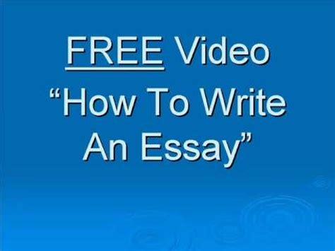 How You Write An Essay by How To Write A Essay