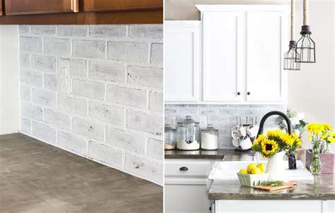 best 25 faux brick backsplash ideas on pinterest white regarding white brick backsplash best 25 faux brick backsplash ideas