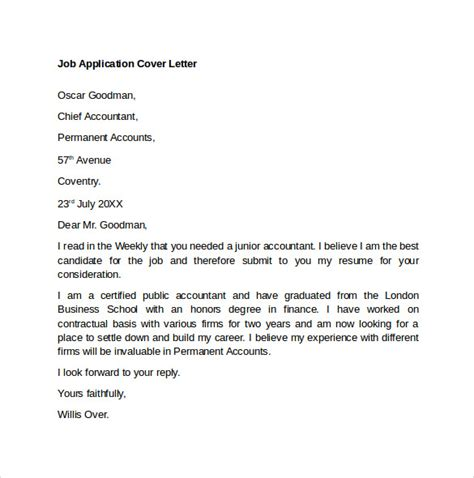 application letter for chief accountant position best 25 cover letter exle ideas on cover