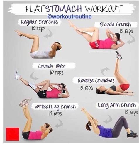 flat stomach workout workouts pinterest flats flat