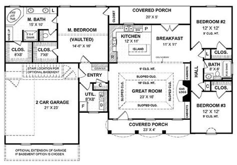 Single Story Floor Plans With Open Floor Plan by Single Story Open Floor Plans Open Floor Plans For One