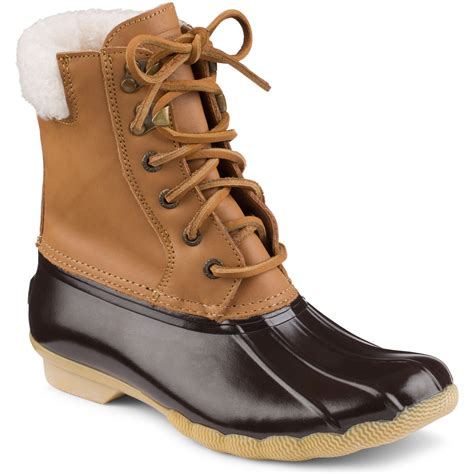 sperry duck boots womens sperry top sider s shearwater duck boot cognac brown