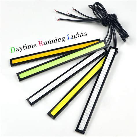 Drl Led Cob 17cm 1pcs ultra bright 17cm 12v daytime running light waterproof cob day time lights led car drl