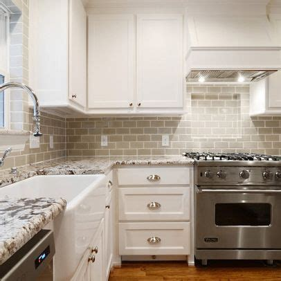 Grey subway tile and counters. Yup. The backsplash is Ann