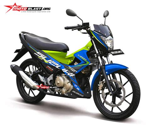 Satria Fu 2014 by Modifikasi Striping Satria Fu 2014 Blue Energy Motoblast