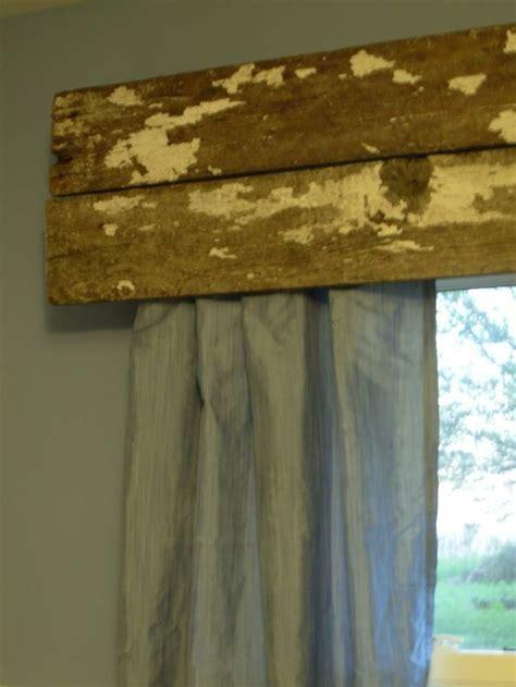 rustic curtain valances reclaimed rustic wood as a window curtain valance i love