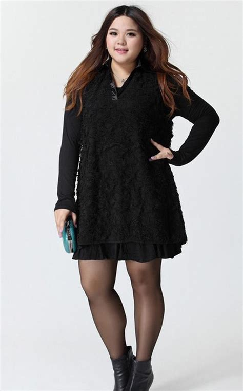 Dress Big Size Korea 2013 lovely fashion dress plus size korean clothing autumn winter dress big