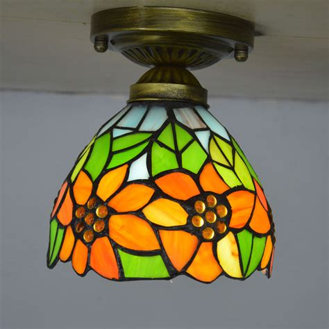 Stained Glass Kitchen Lighting Small Ceiling Light Stained Glass Lshade Country Sunflower Kitchen Lighting E27 110
