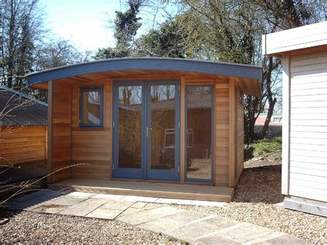 curved roof cabin shedworking curved roof garden office home tiny