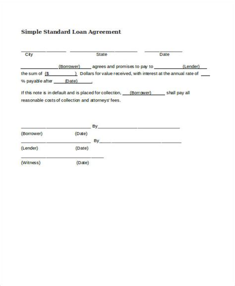simple interest loan agreement best resumes