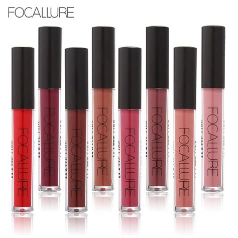 Lipgloss Silky focallure brand makeup 12color matte lip gloss lasting