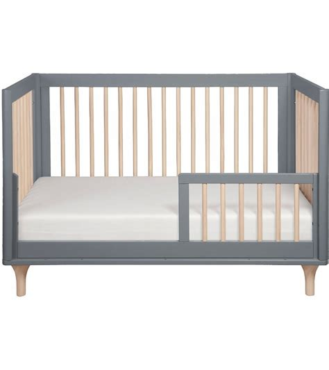 Convertible Crib To Bed Babyletto Lolly 3 In 1 Convertible Crib With Toddler Bed Conversion In Grey Washed