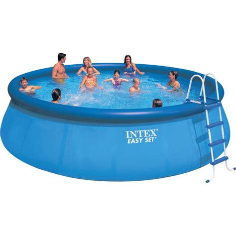 backyard swimming pools walmart intex 18 x 48 quot easy set swimming pool walmart com