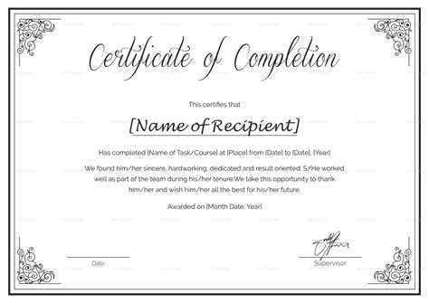 Custom Certificate Of Course Completion Certificate Template