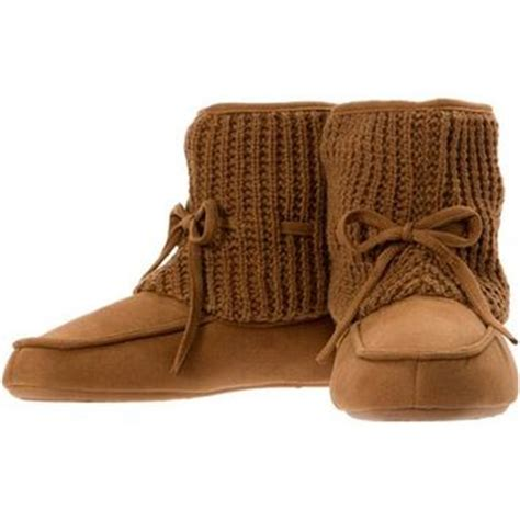 walmart boot slippers dearfoams s sweater knit top boot from walmart