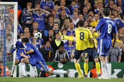 chelsea vs barcelona 2009 classic goal iniesta against chelsea 08 09 chions