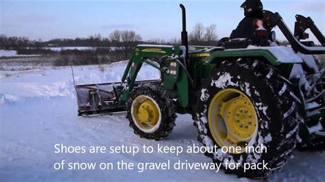 john deere  snowplowing   boss plow youtube