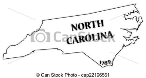 How To Draw The Outline Of Carolina by Clip Vector Of Carolina State And Date A Carolina State Csp22196561