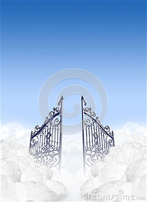heavens gates   clouds royalty  stock photo