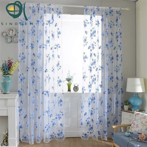 blue and yellow floral curtains compare prices on blue valance online shopping buy low