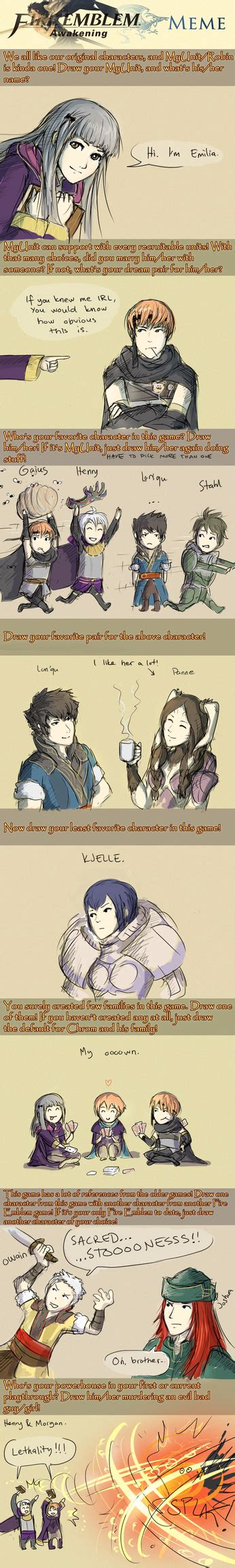 Fire Emblem Memes - fire emblem awakening meme emilia s version by toivoshi on deviantart