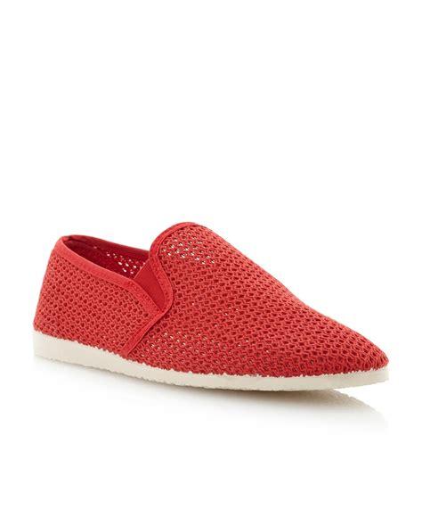 dune flamingo mesh slip on shoe in for lyst