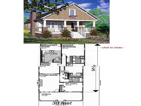 Arts And Crafts Floor Plans by American Craftsman Bungalow Craftsman Style Bungalow Floor