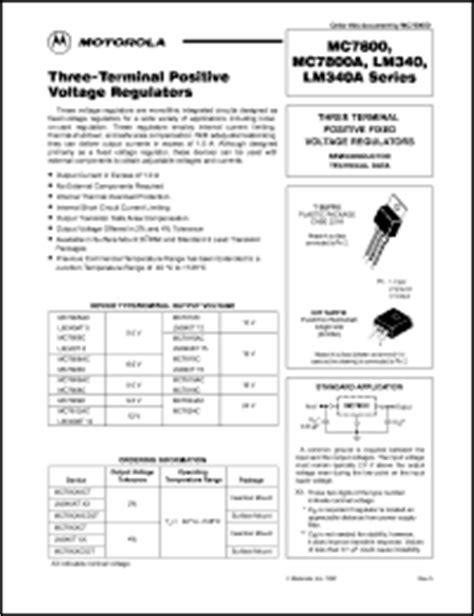 motorola integrated circuits data sheets 7812 ic datasheet pdf free developerswp