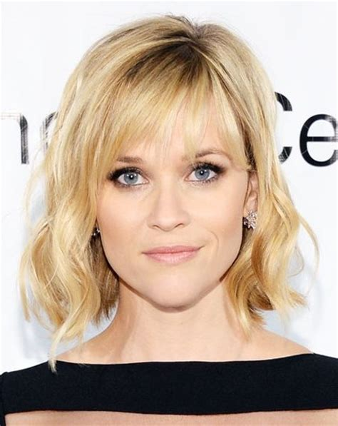 hairstyles medium length with wispy fringe and slightly curly trendy shoulder length haircuts to try in 2016 haircuts