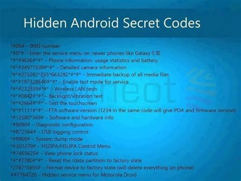 android codes 32 secret codes that every android smartphone user should