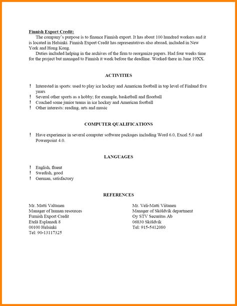Resume Template With References 10 How To Write References On A Resume Ledger Paper