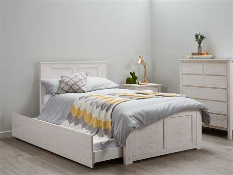 king bed with trundle king single bed trundle kids beds whitewash b2c furniture
