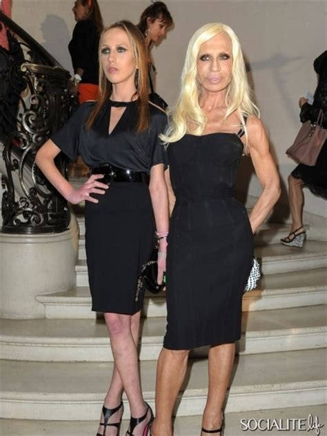 Dontella Versace Allegra Consumed By Anorexia by Allegra Versace And Donatella Versace Fashion Week
