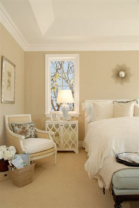 romantic bedroom paint colors ideas creamy wall color with elegant white bedding set for