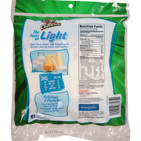 Cheese Heads Light String Nutrition Facts Besto Blog Light String Cheese Calories