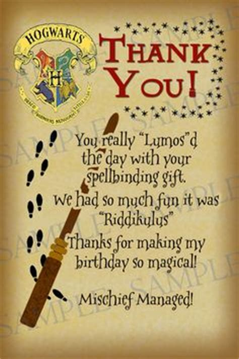 Harry Potter Thank You Card Template by Printable Thank You Card Harry Potter Inspired With All
