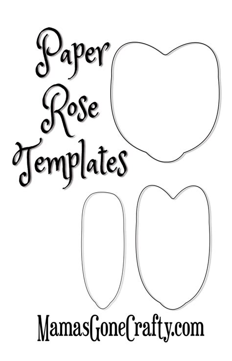 rose petal printable templates freebie friday abbi