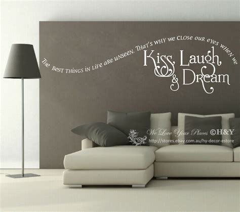 home decor sticker quot laugh quot wall quote sticker removable vinyl