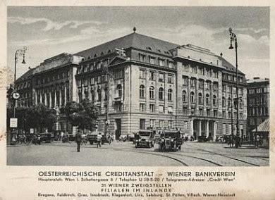 bank austria kreditanstalt creditanstalt bankverein wien geschichte wiki