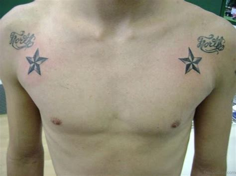 black star tattoo 51 great tattoos on chest