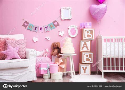 foto baby shower hermosas decoraciones para baby shower sala foto de stock