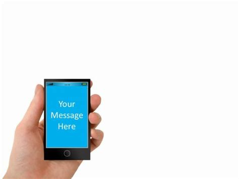 Smartphone Powerpoint Template Cell Phone Powerpoint Template