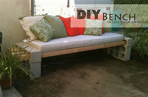 home made benches diy outdoor bench in less than an hour