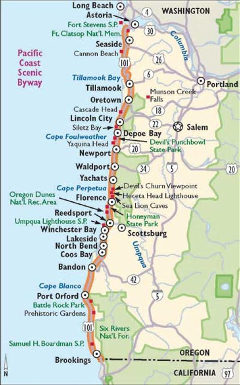 pacific coast highway map oregon scenic drives pacific coast scenic byway howstuffworks