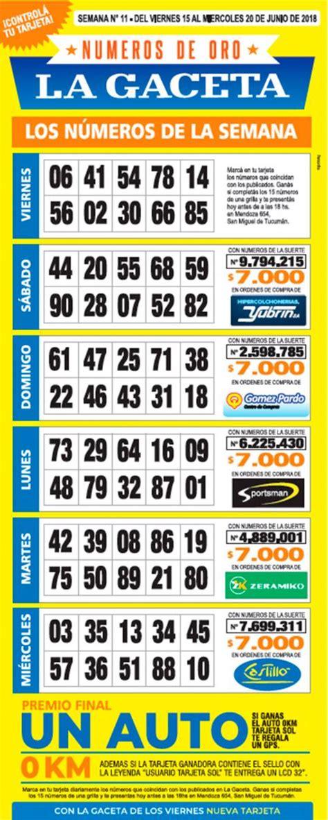 numeros de oro la gaceta grilla completa semana 21 la grilla completa de los n 250 meros de oro de la gaceta 161 el