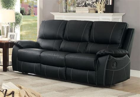 top grain leather reclining sofa homelegance greeley reclining sofa top grain