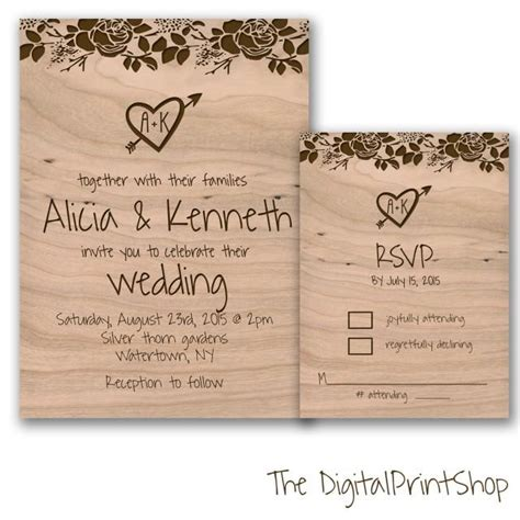 wedding reception invite layout 3 rustic chic wedding invite unique wedding reception invitation wood printable wooden floral